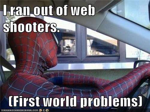 I ran out of web shooters.  (First world problems)