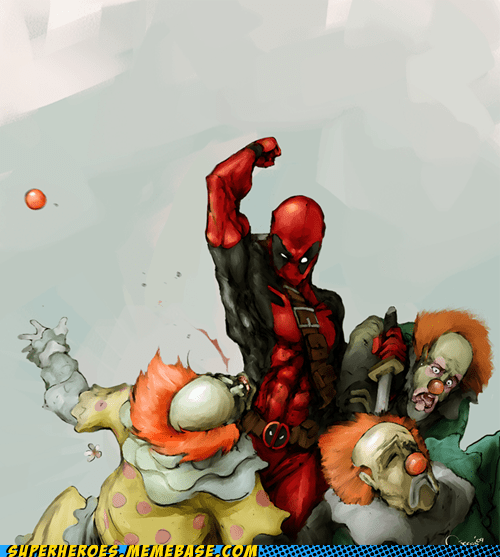 Awesome Art clowns deadpool - 6486244864