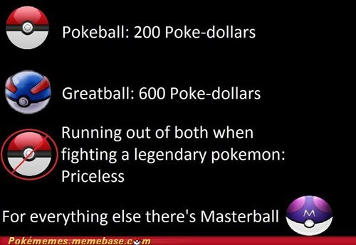 masterball mastercard pokeball Pokémemes priceless the internets