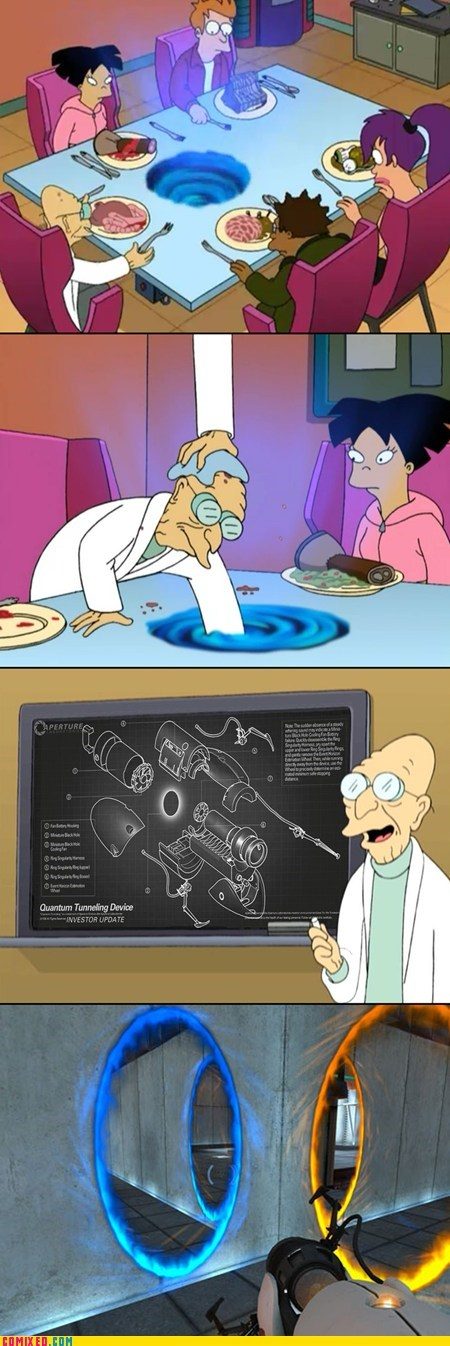 cartoons futurama gladOS Portal TV video games