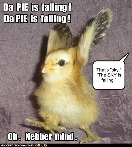 baby chick chicken little falling mixup never mind pie sky - 6486833664