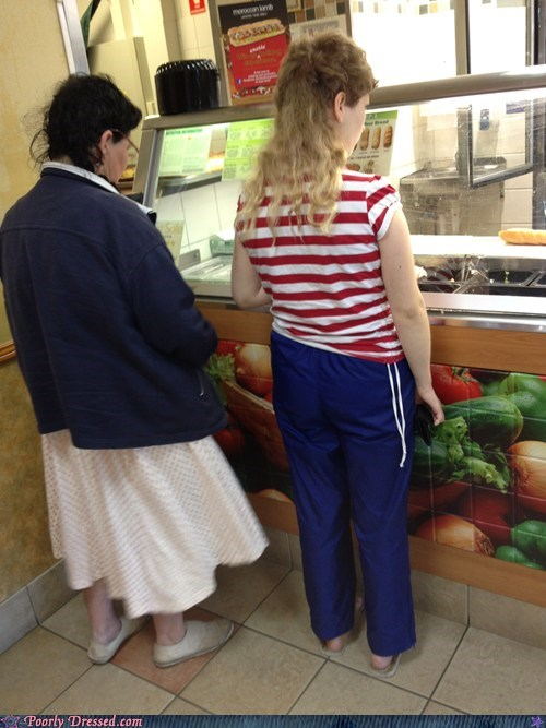 fast food mullet pants sailor Subway - 6486917376