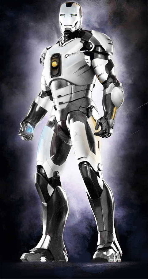 aperture science,crossover,Fan Art,iron man,Portal,superheroes,video games