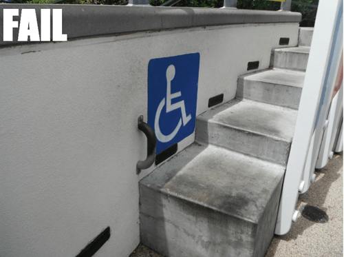 Wheelchair Accessible FAIL
