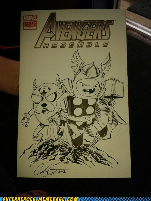 adventure time avengers Awesome Art - 6487175168