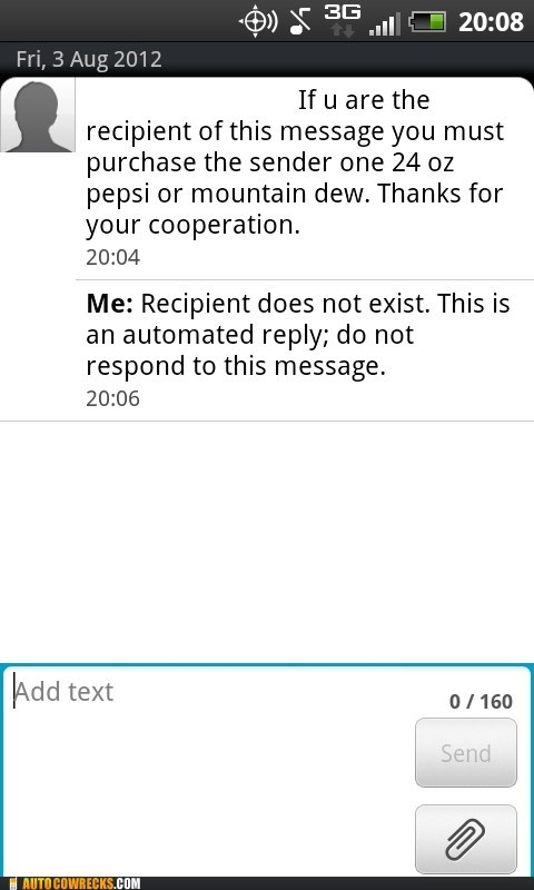 automated reply does not exist mountain dew touché - 6487211520