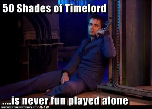 50 shades of grey,alone,companion,David Tennant,doctor who,handcuffs,Sad,the doctor,timelord