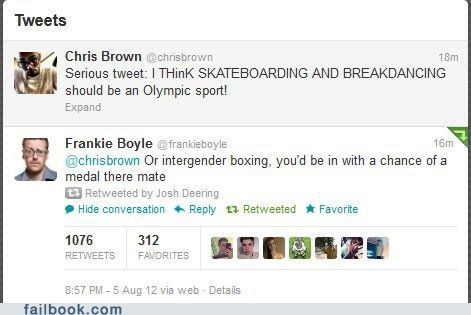 boxing chris brown failbook olympics tweet twitter