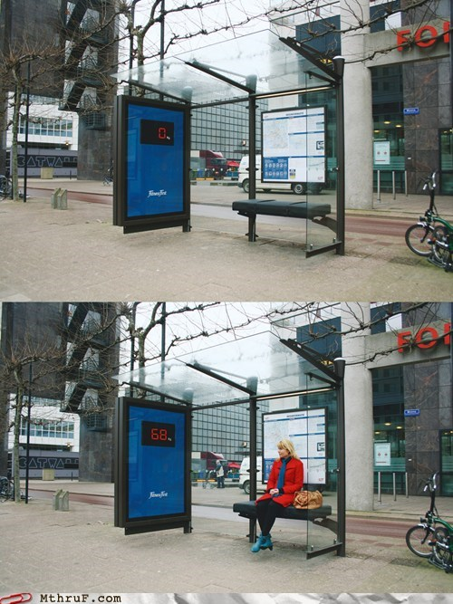 advertisement,bus stop,kg,weight loss