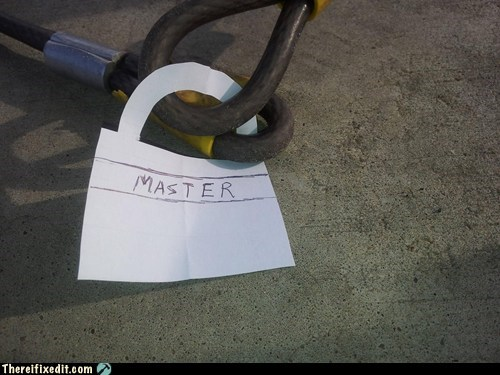 bike lock,bike theft,g rated,lock,masterlock,pad lock,security,theft,there I fixed it