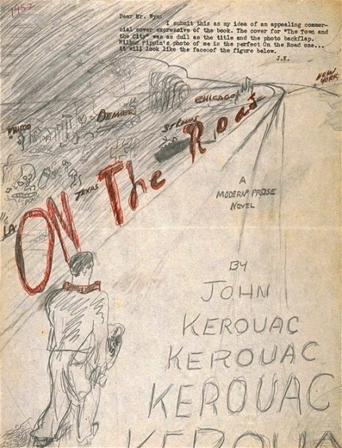 jack kerouac on the road on the road book cover - 6488124160