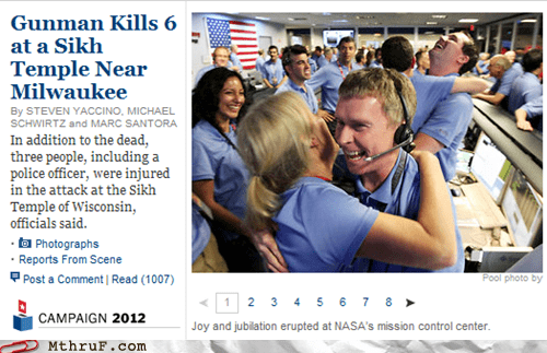 curiosity,formatting,headlines,jpl,Mars,mars rover,milwaukee,nasa,new york times,newspaper,nyt,sikh temple,wisconsin