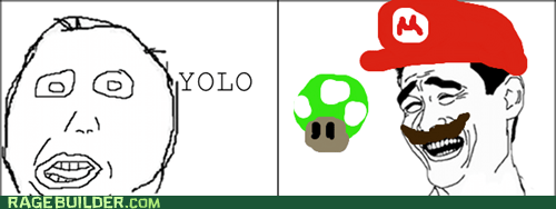 yolo 1up herpderp mario - 6488200704