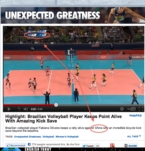 brazil,China,korea,olympics,ROFLympics 2012,south korea,volleyball