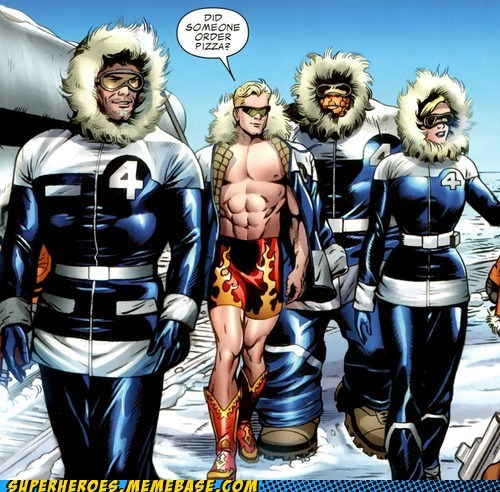 fantastic 4,johnny storm,pizza,Straight off the,Straight off the Page
