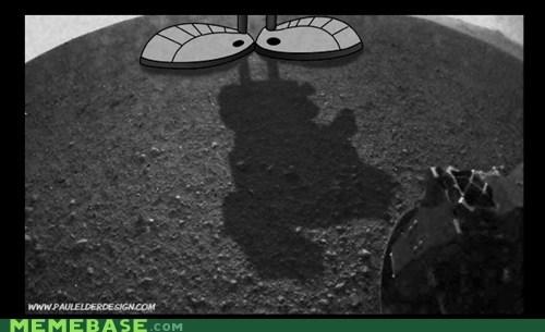 curiosity Mars marvin the martian Memes shadow - 6488440832