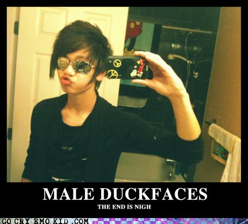 duck face,male,mallard mouth,weird kid