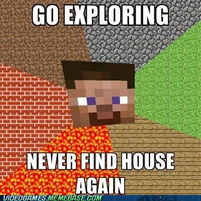 create,exploring,house,meme,minecraft