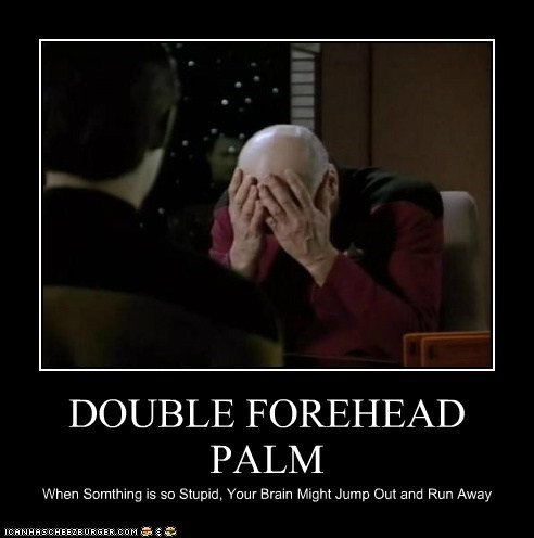 brent spiner Captain Picard data double facepalm patrick stewart Star Trek stupid the next generation - 6488713472