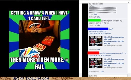 facebook,misused memes,uno,your meme is bad