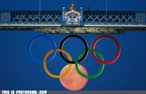 olympic logo olympics Perfect Timing the moon