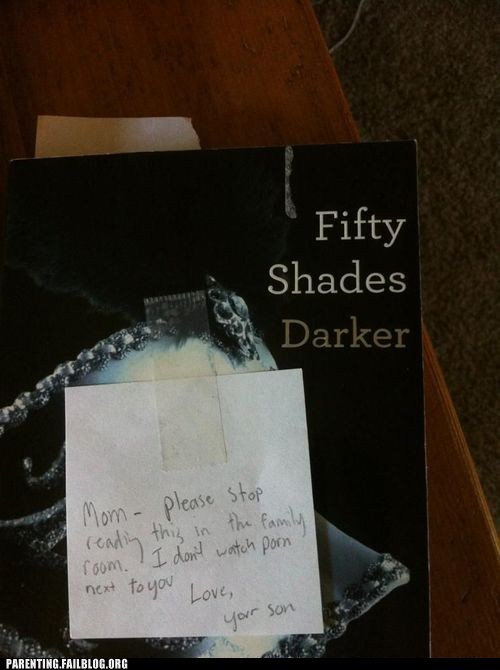 book,fifty shades darker,fifty shades of grey,motherson,note from son