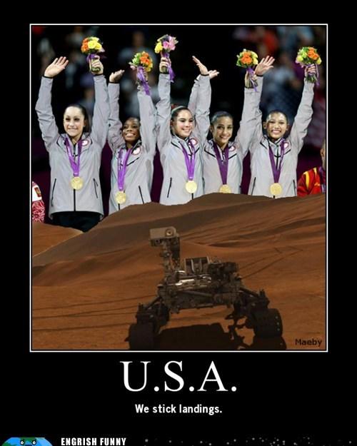 america,curiosity,fab five,gymnastics,jpl,Mars,mars landing,mars rover,mckayla maroney,nasa,usa