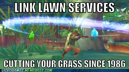 cutting grass,lawn services,link,zelda