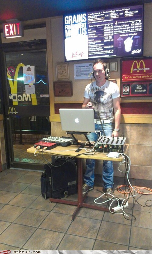 deejay,diet coke,dj,McDonald's,restaurant