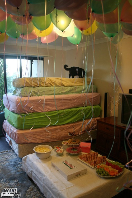 bed birthday Party princess