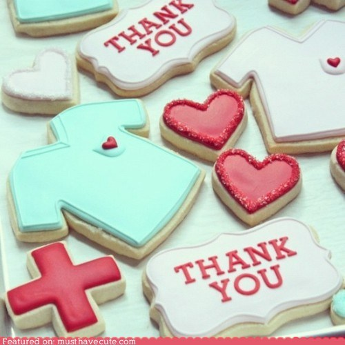 cookies,epicute,icing,nurses,thank you