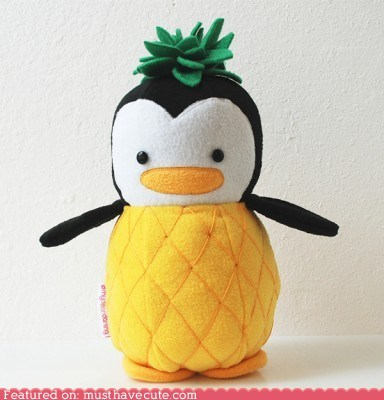 costume custom penguin pineapple Plush - 6489043456