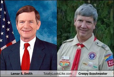 creepy scoutmaster,funny,Lamar Smith,meme,politics,TLL