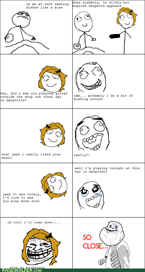 forever alone friend zone Music Rage Comics so close troll - 6489106432