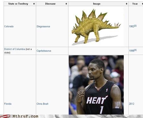 basketball chris bosh Connecticut dinosaurs miami heat nba reptar stegosaurus velociraptor wikipedia - 6489180160