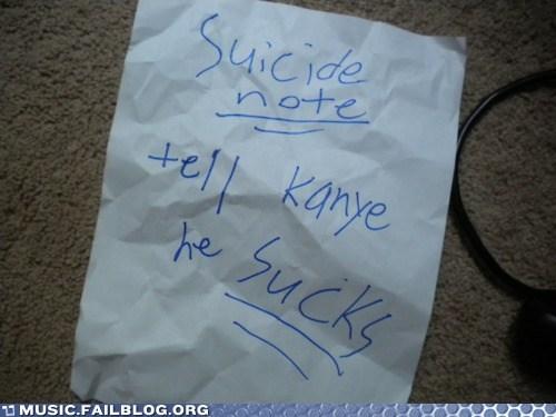 kanye west,suicide