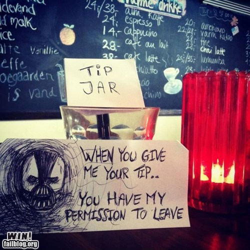bane,restaurant,the dark knight,tips