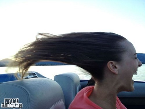 drive hair whee wind - 6489309696