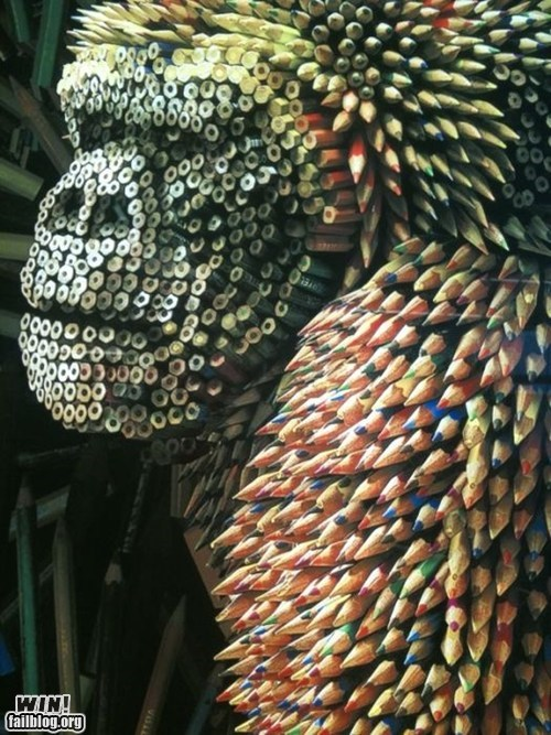 art,design,gorilla,pencils