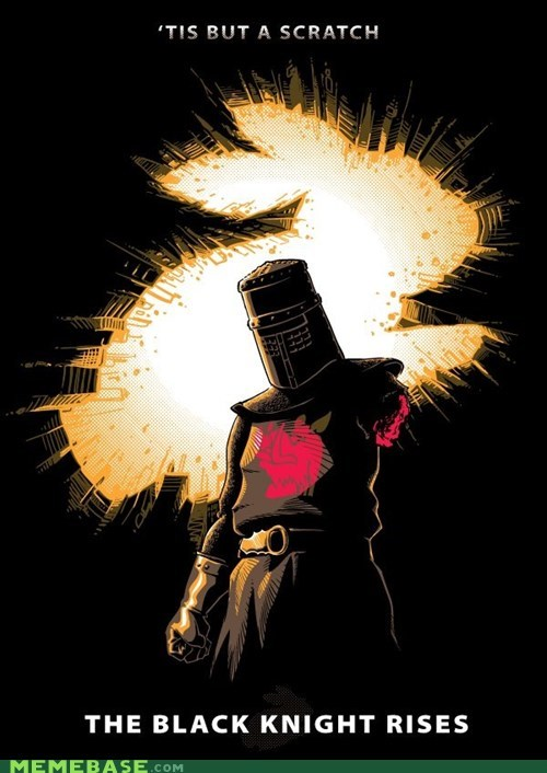 Awesome Art black knight flesh wound monty python - 6489473536