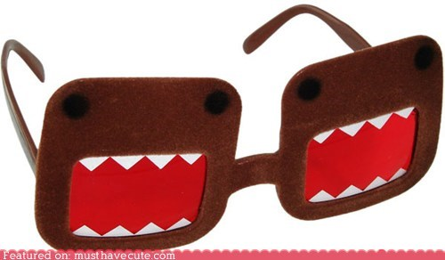 domo,Domo Kun,fuzzy,glasses,sunglasses