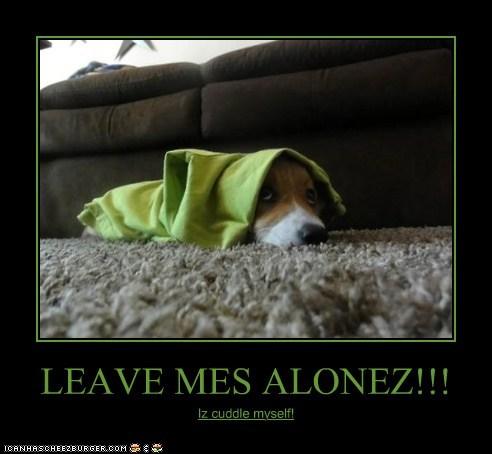 LEAVE MES ALONEZ!!! Iz cuddle myself!