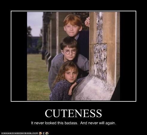 Badass cuteness Daniel Radcliffe emma watson Harry Potter hermione granger kids Ron Weasley rupert grint - 6489834752