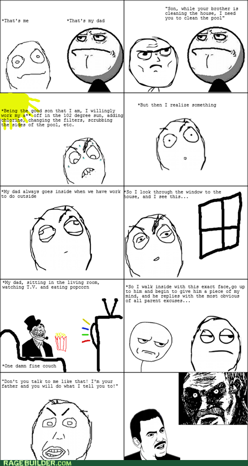 all that racket bitter children parenting Rage Comics troll dad - 6489999360
