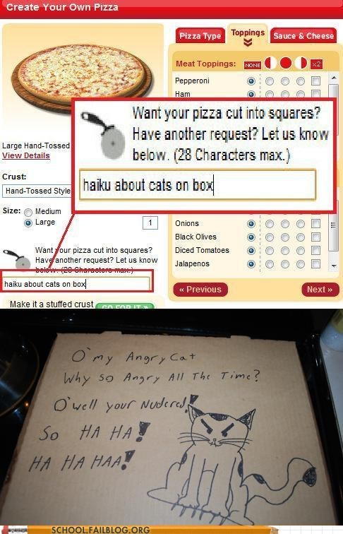 Cats haiku pizza requests - 6490142208