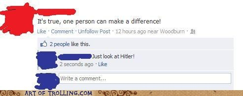 facebook,hitler,inspiration,make a difference