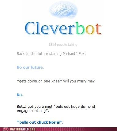 chuck norris,Cleverbot,diamond ring