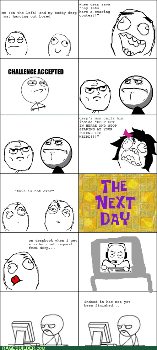 facebook,Rage Comics,staring contest,video chat