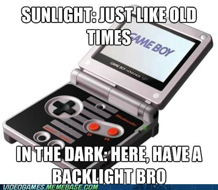 backlight,game boy advance,handheld,nintendo,sunglight