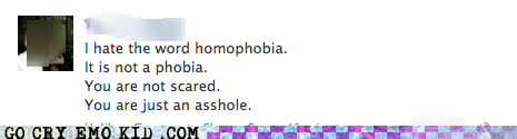 facebook,gay,homophobia,scared,weird kid